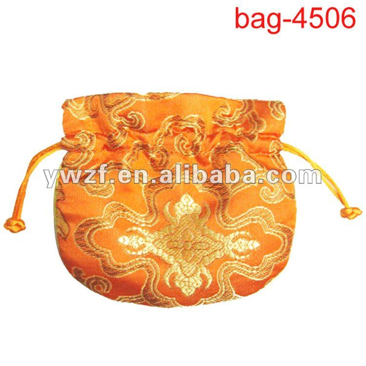 small satin drawstring coin pouches