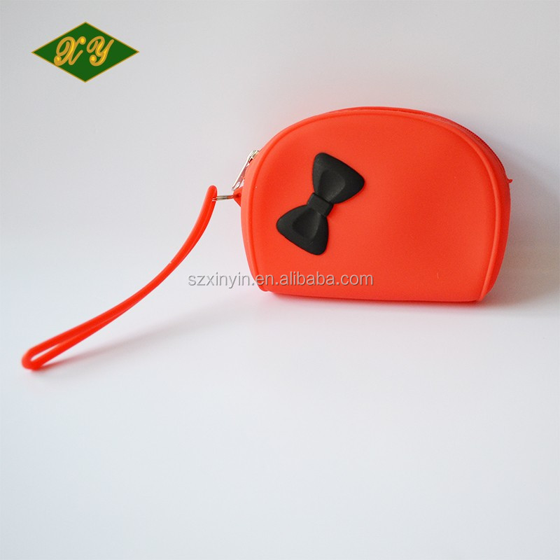 Cute mini silicone rubber handbag for women