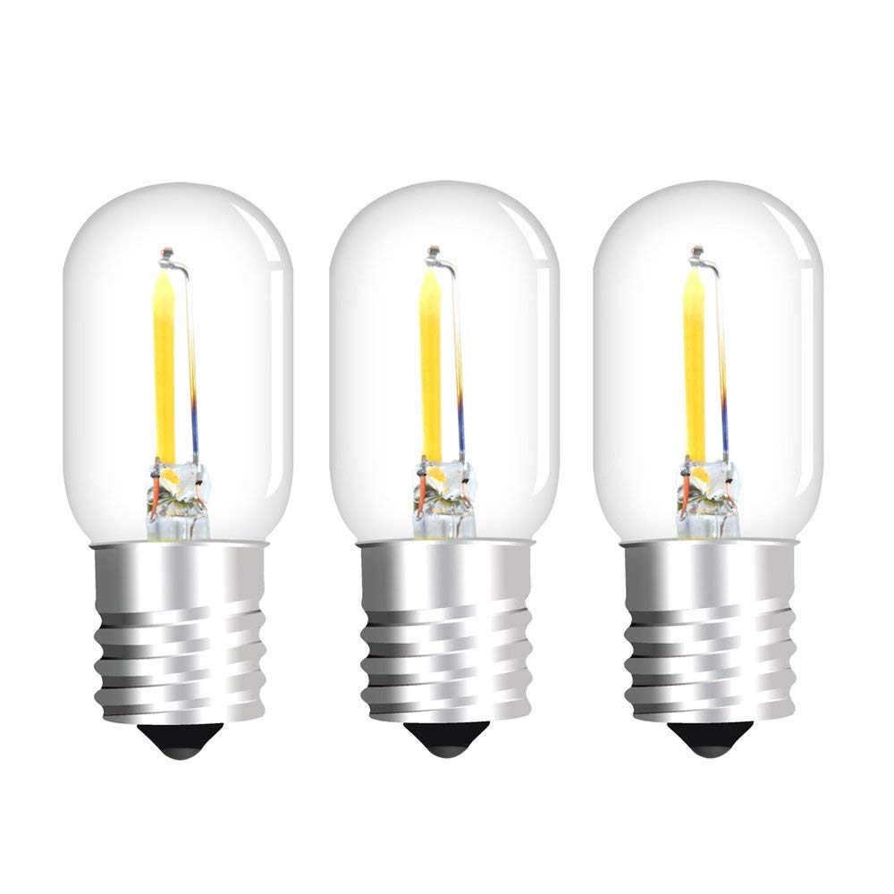 Get Quotations Aluxcia 1w E17 T22 Led Edison Filament Bulb 10w Replacement Light Intermediate Base Microwave