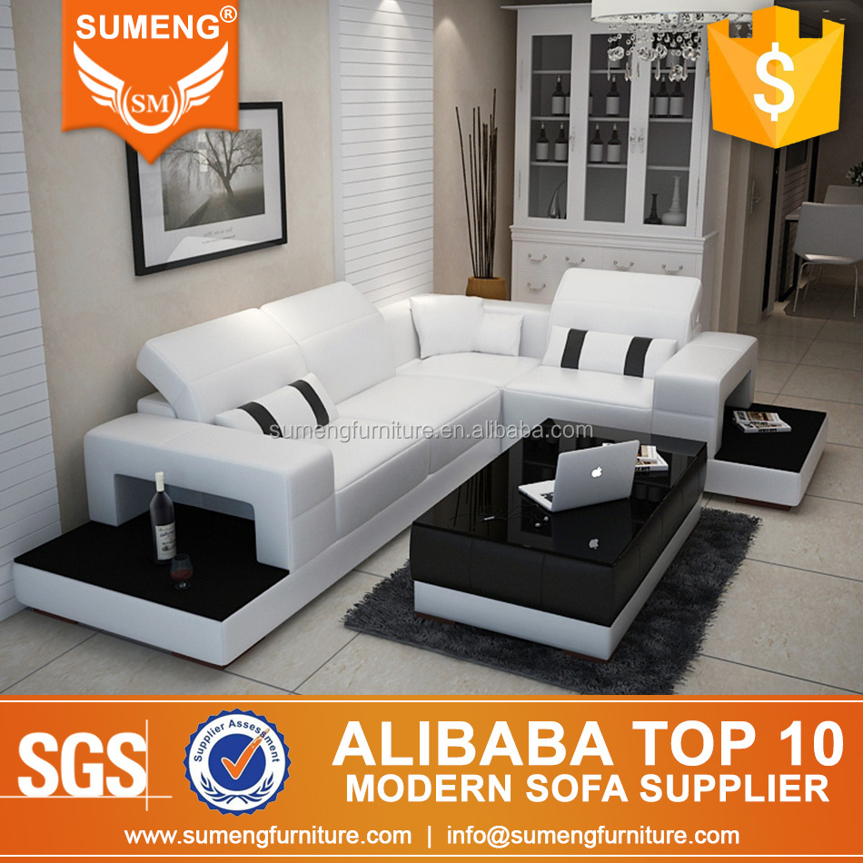 Modern Furniture Black And White Sofa Set Designs Prices