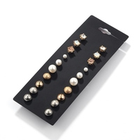 BZ-20 Fashion Ladies Simple Design Crystal Round Earring New Earrings Stud Pearl All Types Of Earrings