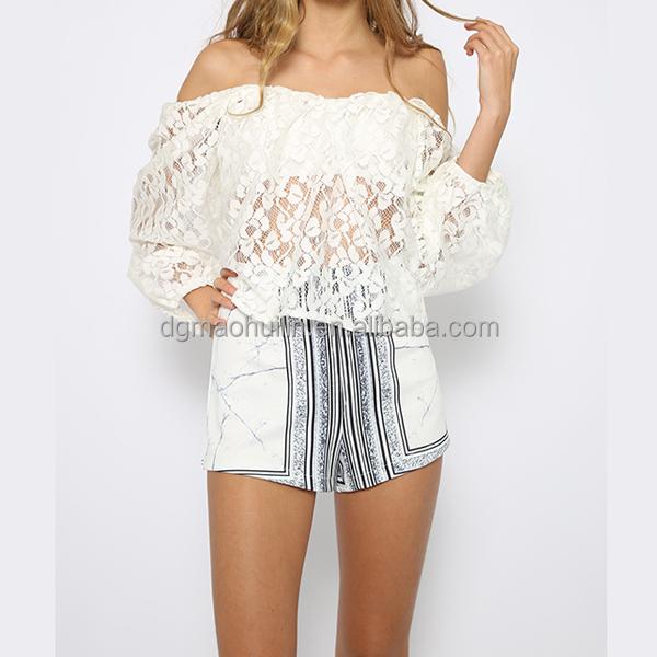 c776400570c Latest Designs Blouse Boutique Styles White Off Shoulder Lace Top ...