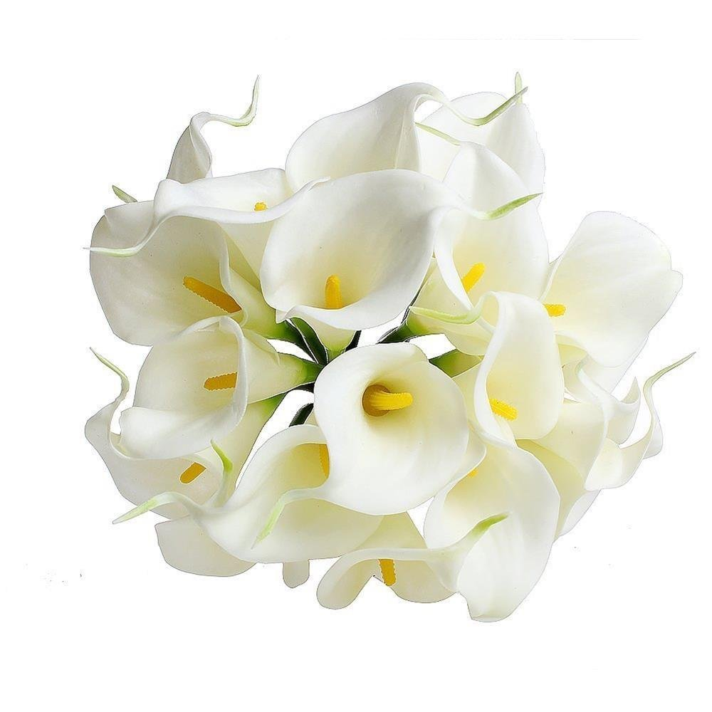 Cheap bridal bouquet calla find bridal bouquet calla deals on line get quotations fanamskl 20 x calla lily bridal wedding bouquet head latex real touch flower bouquets white izmirmasajfo