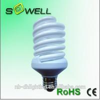 Plastic 120V/230V 30W E27 1510LM full spiral energy saving lights made in China