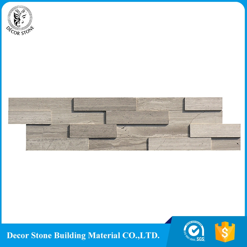 Chinese wooden grey marble culture stone veneer prices with low price