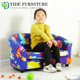 Safe double seat wooden frame coffee shop sofa chair kids