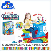 2 in 1 creativity kids desk and easel SF233948