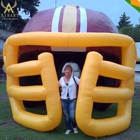 Sports decoration event inflatable football helmet tunnel
