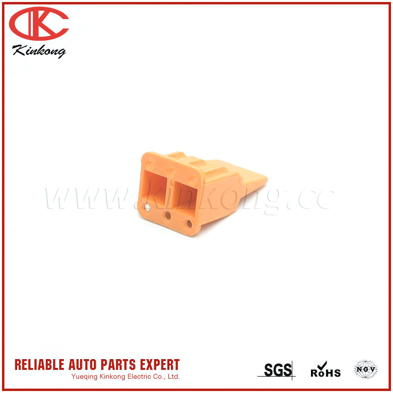 Kingkong Wenzhou auto parts sealed wedgelock WM-6S for DTM plastic orange connector