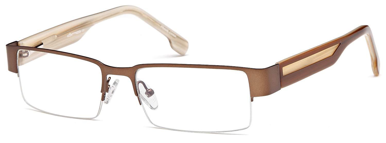 60d411078130 Get Quotations · Mens Semi Rimless Glasses Frames Prescription Eyeglasses  54-17-140