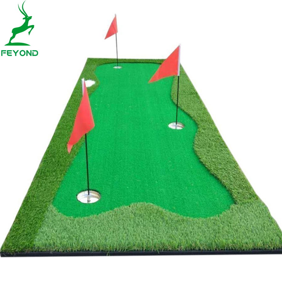Golf Hitting Mat 64x40cm Indoor Training Swing Aids Golf Carpet Green Golf Putting Mat
