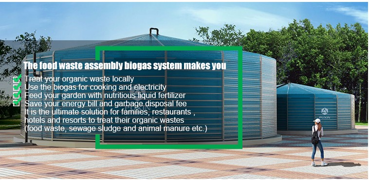 PUXIN biogas digester with sewage pump 150m3/day for sewage sludge treatment