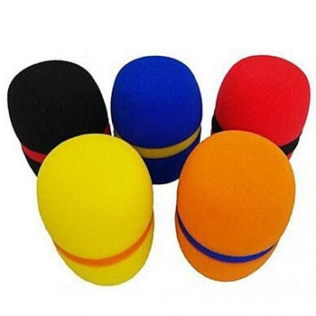 High-Quality Colorful Custom Microphones Flocking Polyurethane Foam Dust Cover For KTV