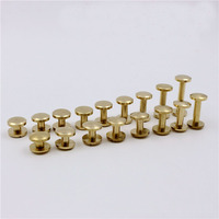 4x10mm Solid brass chicago screw for leather belt