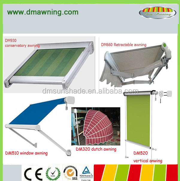 retractable awning / conservatory awning / window awning / vertical awning