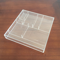 high quality small case clear plastic plexiglass acrylic rectangle display box rack