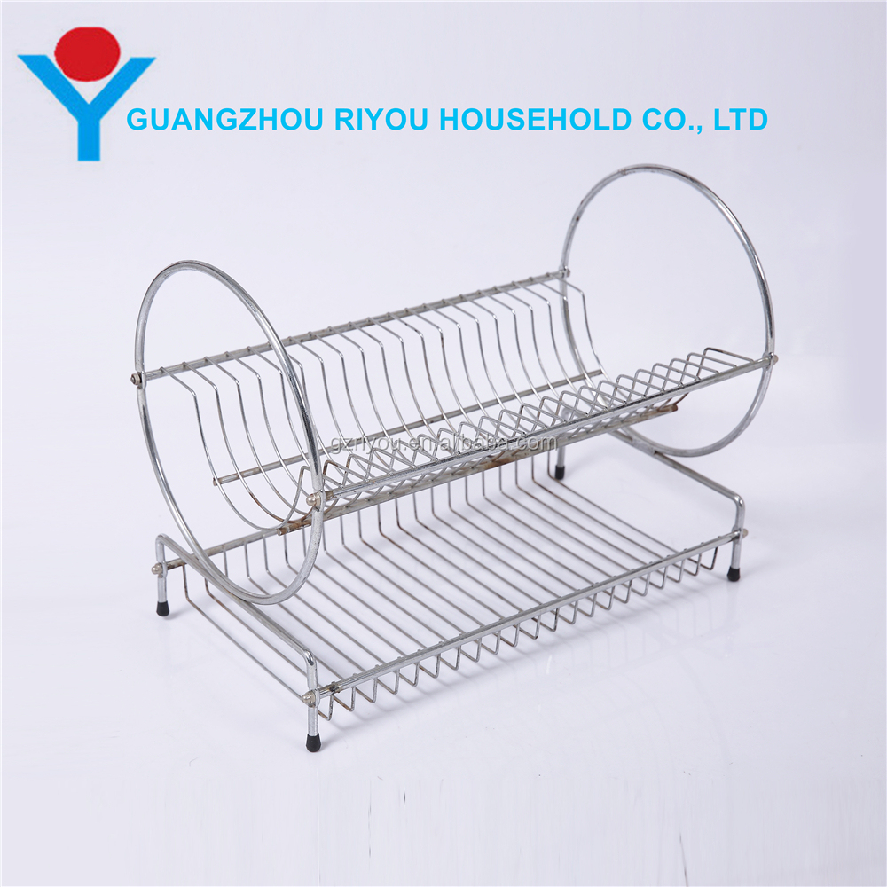 Home Basics 2 Tier Dish Drainer for Kitchen Cup Drying