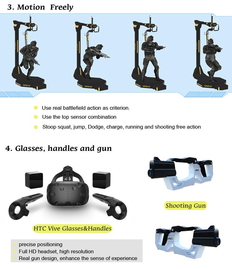 ส่วนใหญ่ Profitable เครื่องสวนสนุกอุปกรณ์ Virtual Reality shooting ผู้เล่น 4 KAT Walk VR จำลอง VR เกมยิง