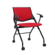 Wholesale Low Back Armless Office Visitor Chair,Upholstered Office Folding Stacking Chair
