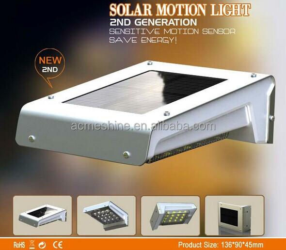 Eshine Solar Powered Lamp Outdoor 16 Led/leds Lights Wall Light ...
