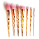Professional Rose Gold makeup brushes Cosmetic No Logo 7pcs Makeup Brush Set