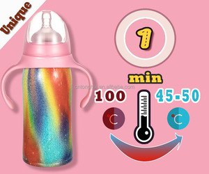baby feeding bottle stainless steel baby bottle Babyflaesch babyflashe biberon chai be