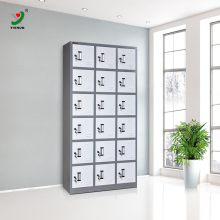 steel almirah locker manufacturing plant 18 compartment grey solid metal lockers