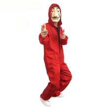 La Casa De Papel Clothes Salvador Dali mask Costume with pvc mask
