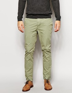 Men's Casual Fit Slim Garment Wash Chino Pants