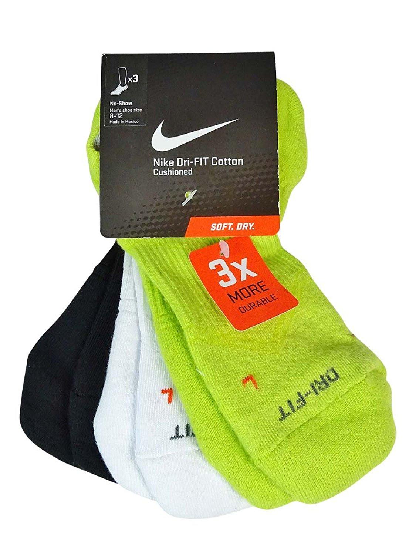 Buy Nike Dri Fit Cushion No Show 3 Pack Womens Running Socks In
