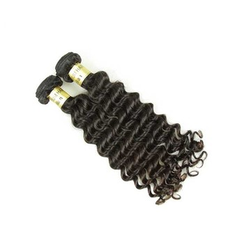 XBL tangle free raw Indian deep wave hair, Indian remi wavy human hair