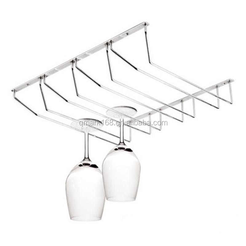 Metal Kitchen Wine Racks With Glass Holders/ Steel Wine Holder /Hanging Wine Glass Rack( 900.101.004 )