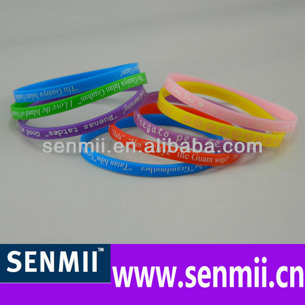 Fashion sports thin silicone wristbands