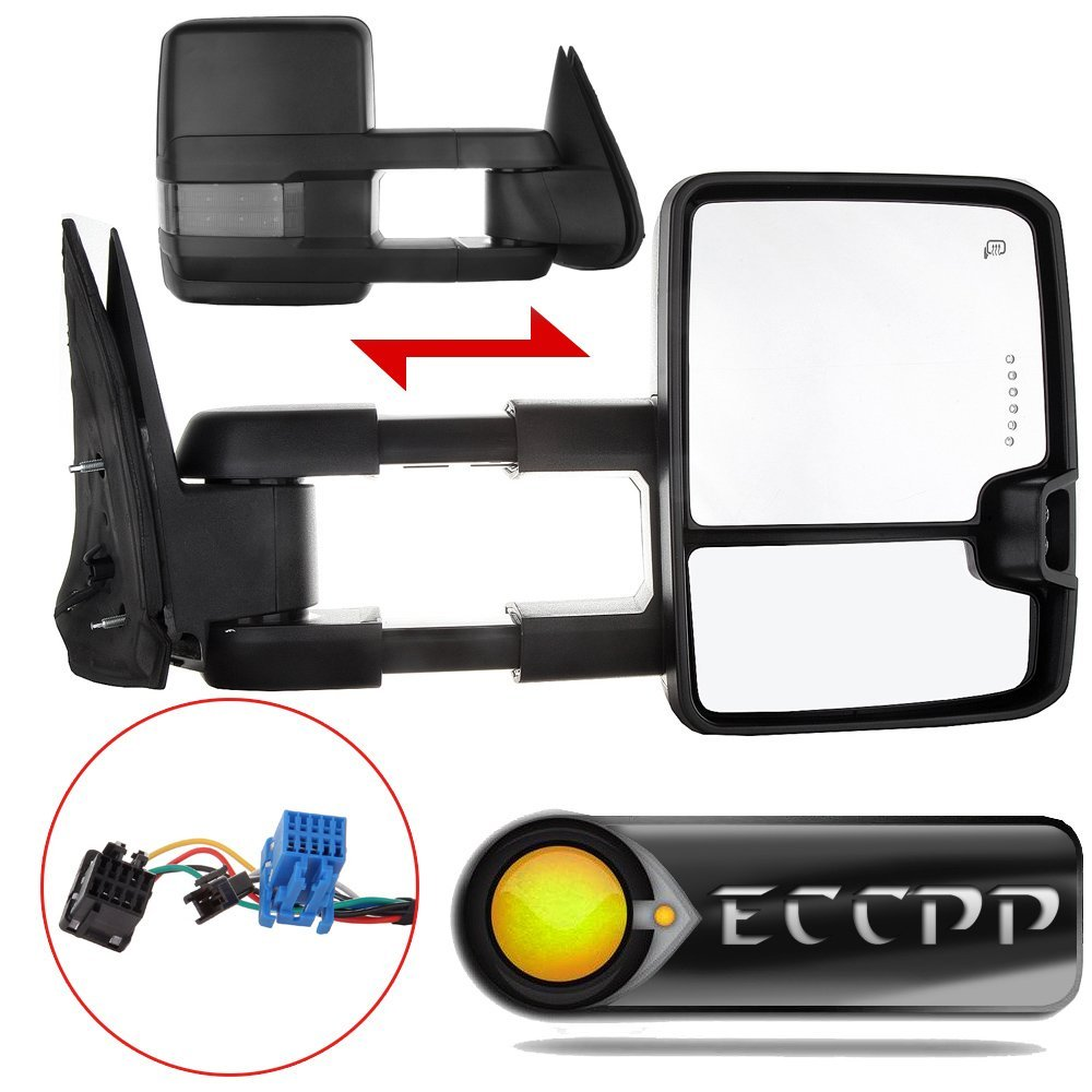 Towing Mirrors ECCPP High perfromance Automotive Exterior Mirrors with Power Heated Turn Signal for 2003-2007 Silverado sierra Chevrolet Chevy gmc 1500 2500 3500(07 New Body Style)