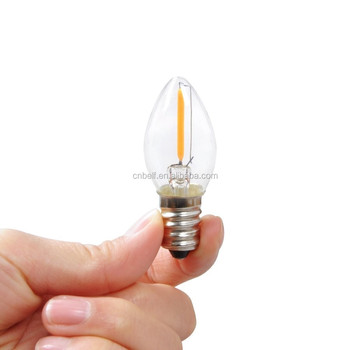 New Mini Products Dimmable 0 5w 1w Filament Led Bulb E14 E12 C7 Led Filament Bulb Buy 30lm E14 Bulb 24v Dc Led Filament Bulb 1 Watt Led Light Bulb