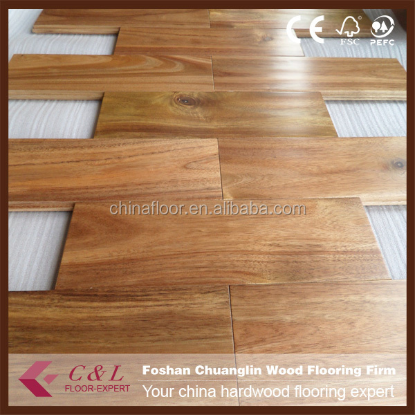 Acacia handscraped hardwood timber floors