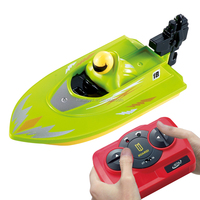 Promotion gift mini boat for kids remote control plastic boat 2.4G rc boat