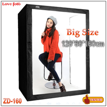 DEEP LED Professional Portable Softbox Photography Light Box 120*80*160cm Photo Studio Video Lighting Tents with LED Light