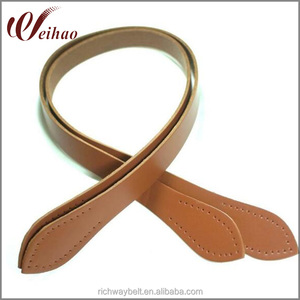 Custom 68cm Tan Embossed leather Handles For Bags