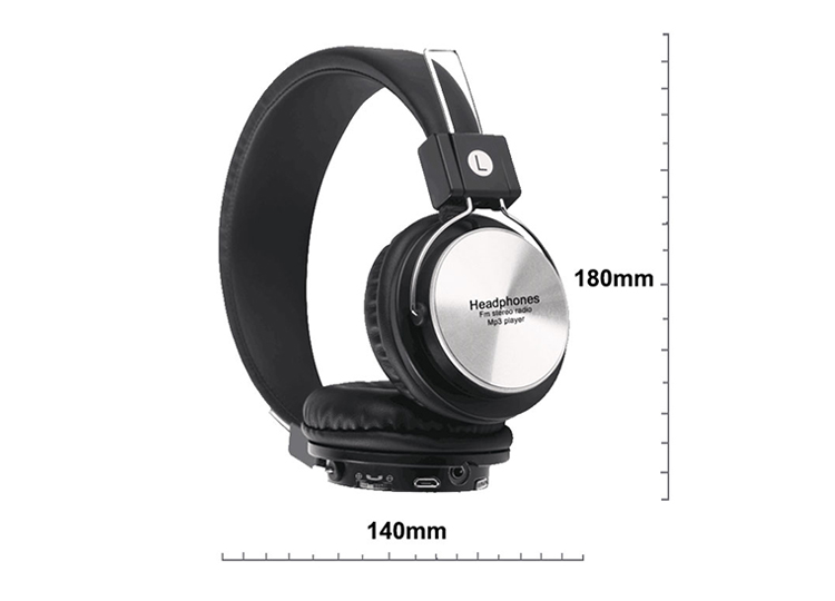 high quality custom logo rechargeable BT wireless headphones to Mobile Phone