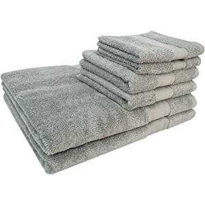 Super Soft and Absorbent Lenzing Modal Cotton Blend 6-Piece Bath Towel Set, Grey