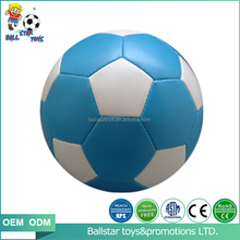 10cm 4 inch Vinyl PVC PU leather Stuffed phthalate free soft soccer football kids toy ball