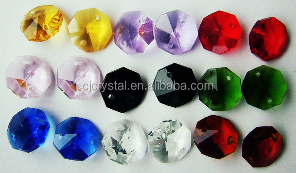 Wholesale Transparent Crystal Octagon Beads