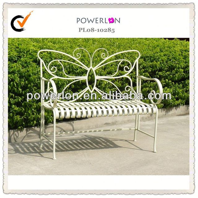 2014 Wrought Iron Patio Bench Cast Iron