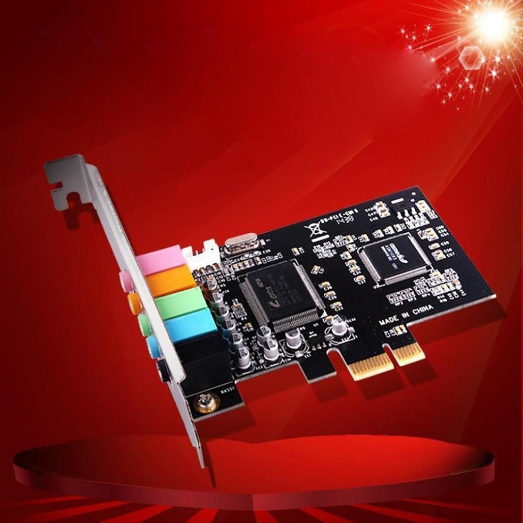 4-Channel C-media Chip 3D Audio Stereo PCI Sound Card W// Built-in Win7 64-bit US