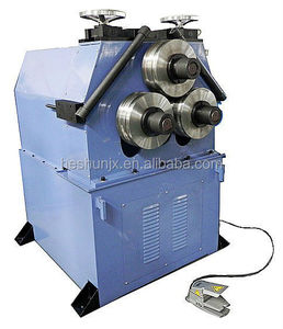3-roller round metal pipe 360 degree 50mm pipe rolling bending machine