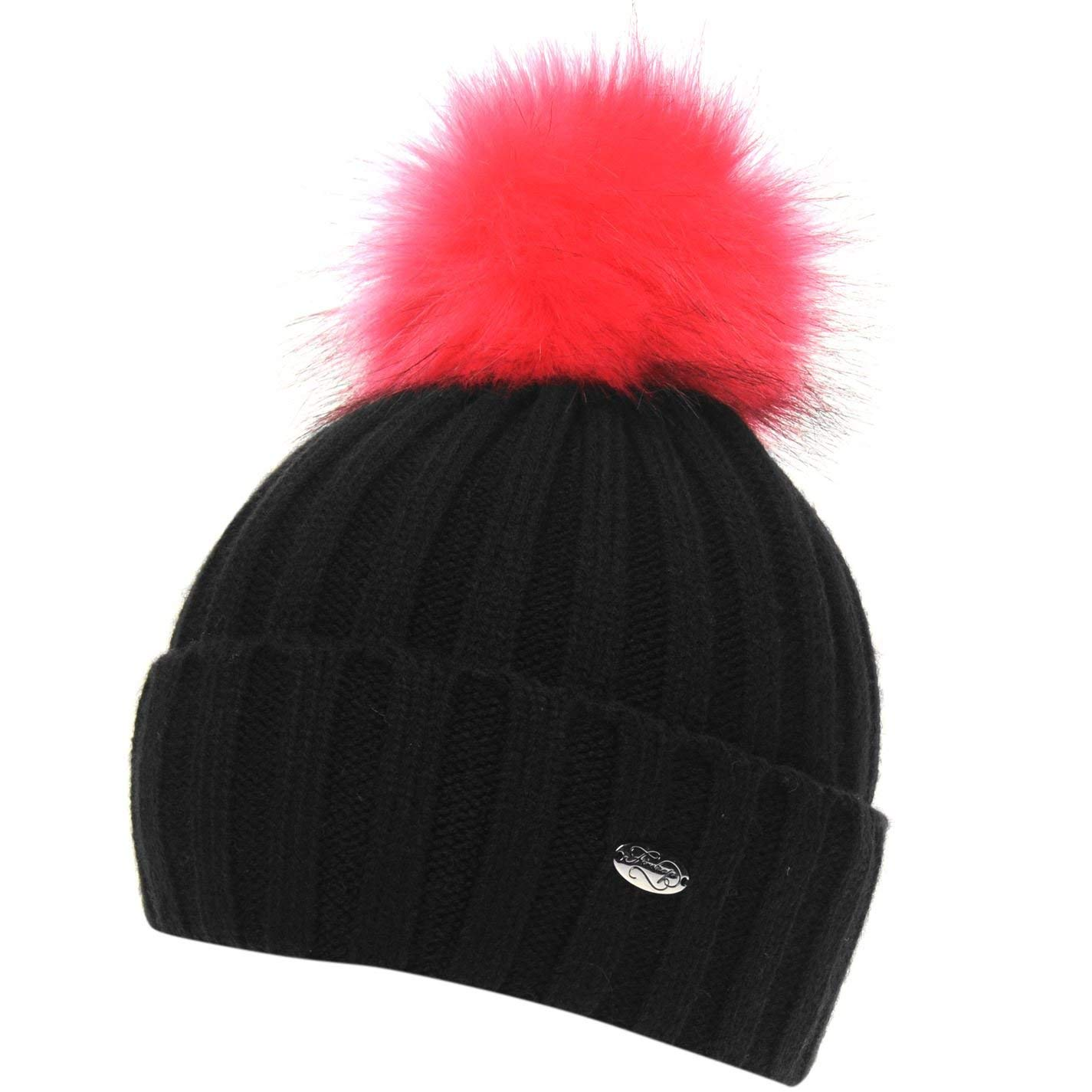 481f7c3d511 Get Quotations · Firetrap Womens Etna Beanie Hat Bobble Warm Faux Fur