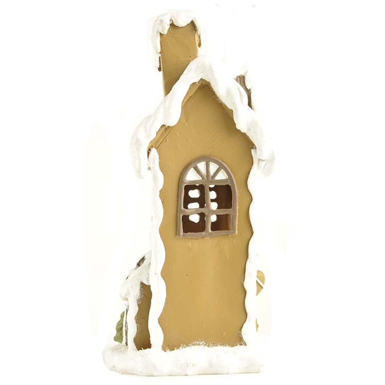 Gingerbread house with X'mas tree LED light