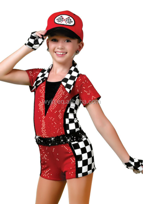 Exciting new arrival speed racer dance shortall for children girls