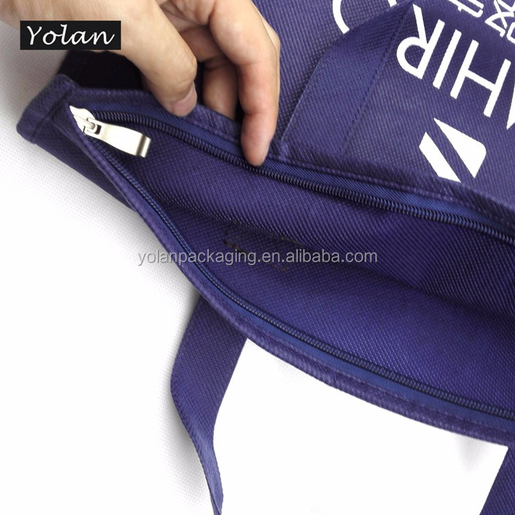 Top quality non woven bag Yiwu non woven bag with zipper manufacturer